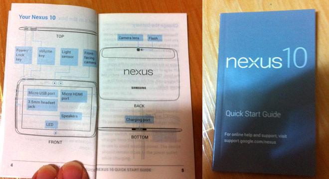 Samsung Nexus 10: design del tablet svelato dalla guida d'uso rapida