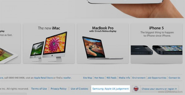 """Apple pubblica il messaggio """"Samsung non copia iPad"""" sul proprio sito"""