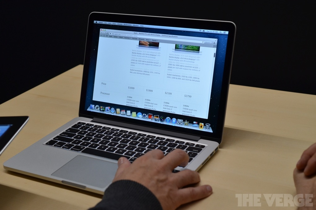 Apple Macbook Pro Retina 13 pollici: video e immagini dal vivo