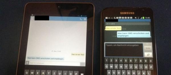 Google Nexus 7: è possibile inviare SMS con un'applicazione di terze parti