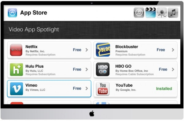 Apple iTV: concept con Siri e App Store