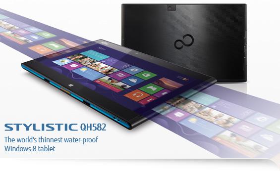 Fujitsu Stylistic QH582: nuovo tablet Windows 8 a prova d'acqua