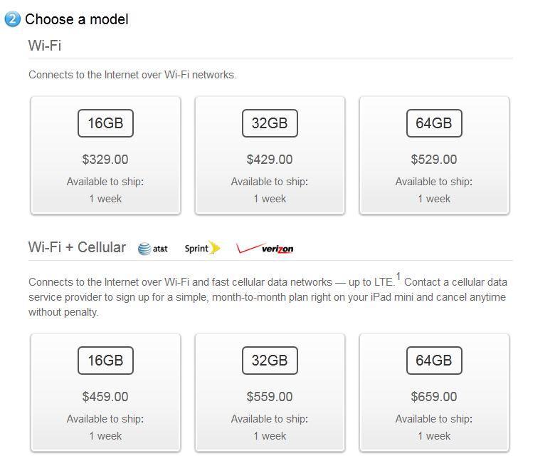 Apple iPad Mini: migliorano i tempi di spedizione negli USA