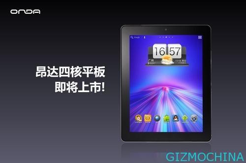 Onda V972: nuovo tablet Android con Retina Display