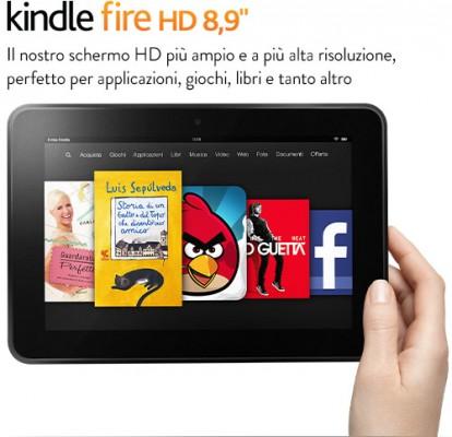 Amazon Kindle Fire HD 8.9 in vendita in Italia a partire da 269 euro