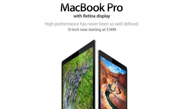 Apple cambia il messaggio del Macbook Pro Retina a causa del Chromebook Pixel