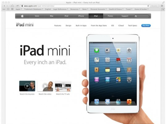 iPad Mini: niente trademark per Apple