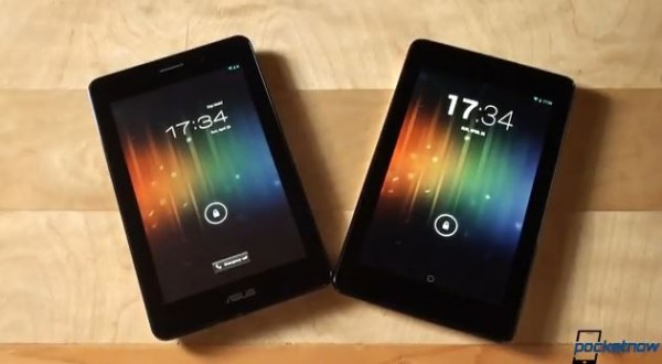 ASUS Fonepad a confronto con il Google Nexus 7 in un video