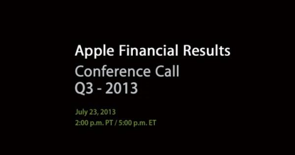 Apple: risultati finanziari Q3 2013 il prossimo 23 Luglio