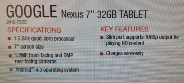 Google Nexus 7 2: possibile il supporto alla ricarica wireless