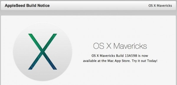 OS X Mavericks: download Golden Master, uscita finale imminente