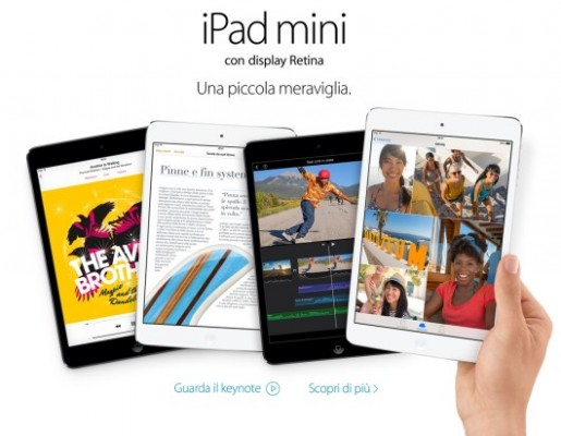 Apple iPad Mini 2 con Retina Display, in uscita a Novembre al prezzo di 389 euro
