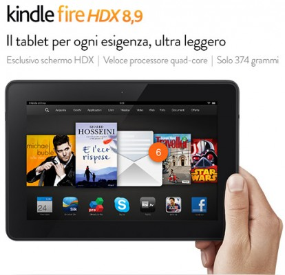 Amazon Kindle Fire HDX 8.9: disponibile in Italia a partire da 379 euro