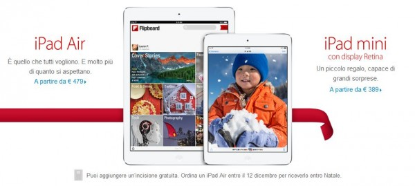 iPad Air e iPad Mini 2: offerte di Natale 2013