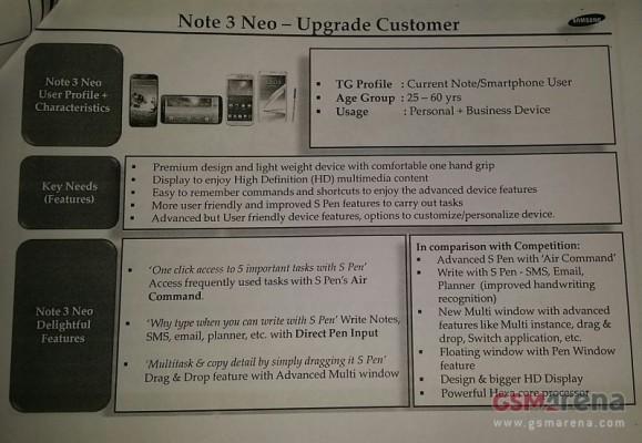 Galaxy Note 3 Neo sarà la versione Lite del phablet Samsung