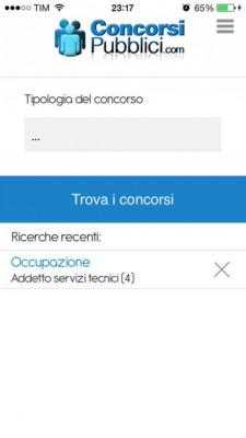 ConcorsiPubblici.com: come cercare lavoro con l'iPad