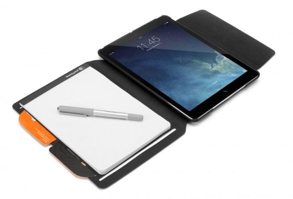 Booqpad per iPad Air, infatti, è custodia e blocco note in uno. La