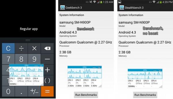 Samsung Galaxy Note 3: stop ai benchmark truccati