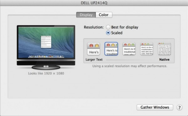 OS X Mavericks 10.9.3 Beta: supporto nativo per i monitor Retina 4K