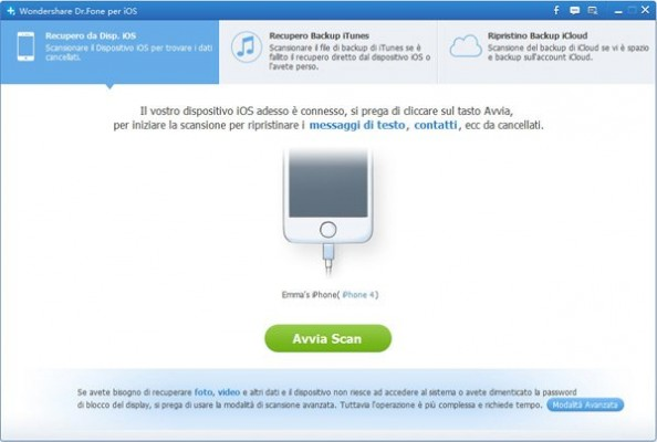 Wondershare Dr.Fone: come recuperare i dati dell'iPad e iPhone