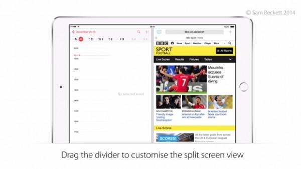 Apple iOS 8: multitasking su iPad di due app contemporaneamente