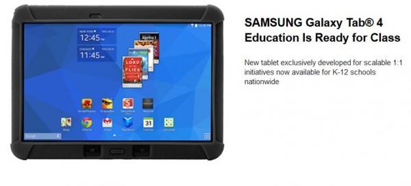 Samsung annuncia il Galaxy Tab 4 Education per le scuole americane