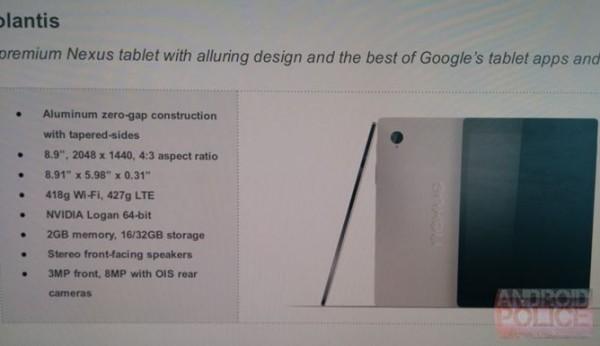Google Nexus 9: annuncio ufficiale domani al Google I/O 2014