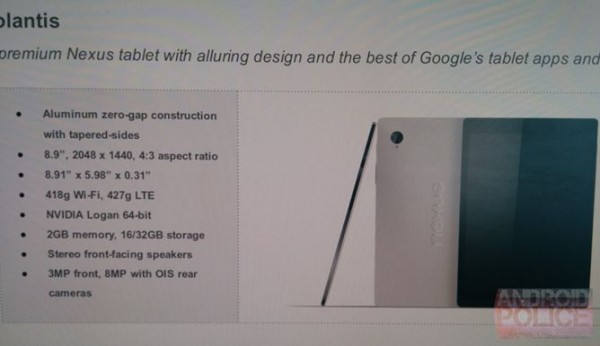 Google Nexus 9 grande assente all'evento Google I/O 2014