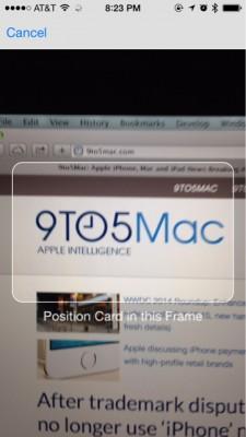 Apple iOS 8: pagamenti mobili con la foto alla carta di credito