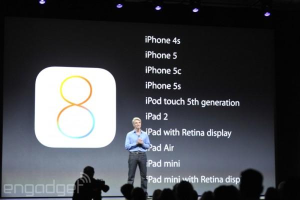 Apple iOS 8: lista compatibilità iPad