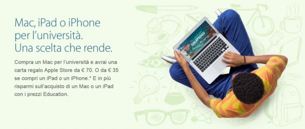 Apple Back to School 2014: sconti e promozioni su Mac, iPad e iPhone