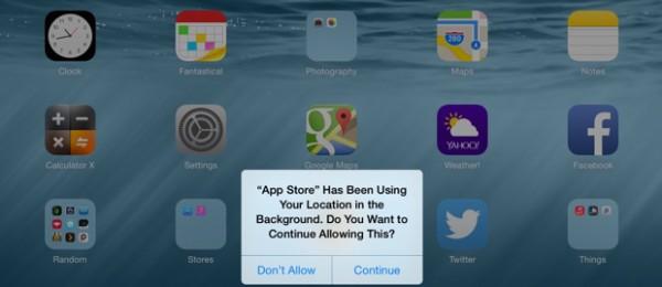 Apple iOS 8: migliora la privacy della geolocalizzazione GPS