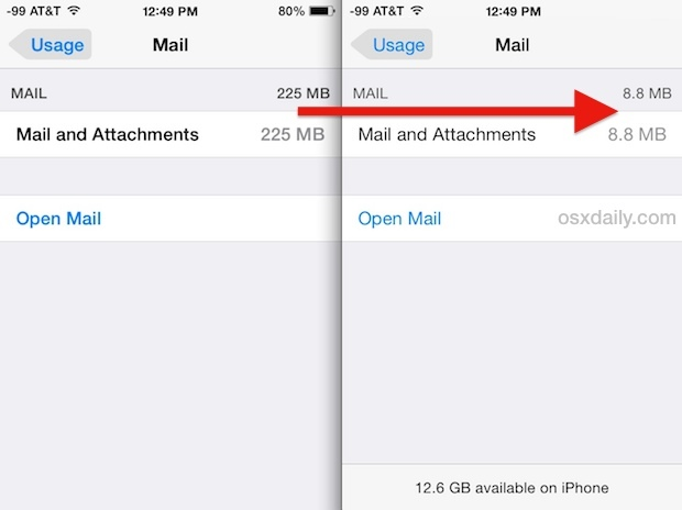 how to delete storage on iphone come liberare lo spazio occupato dagli allegati mail su 18739