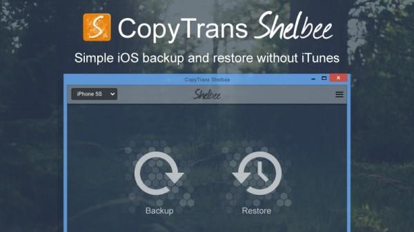 CopyTrans Shelbee: backup e ripristino iPhone e iPad senza iTunes
