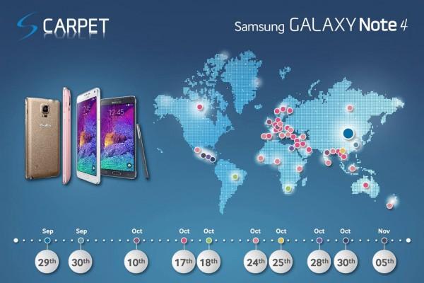 Samsung Galaxy Note 4: ufficiale l'uscita in Italia il 24 Ottobre