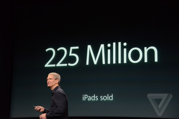 Apple keynote: 225 milioni di iPad venduti, ufficiale l'iPad Air 2