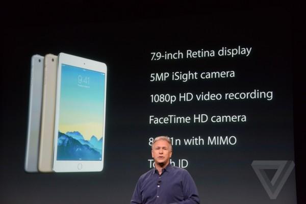 Apple keynote: prezzi iPad Air 2, ufficiale l'iPad Mini 3 con Touch ID