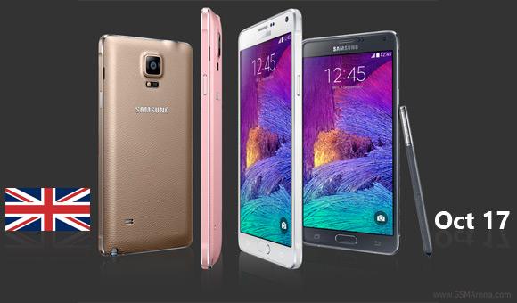 Samsung Galaxy Note 4: ritarda l'uscita nel Regno Unito