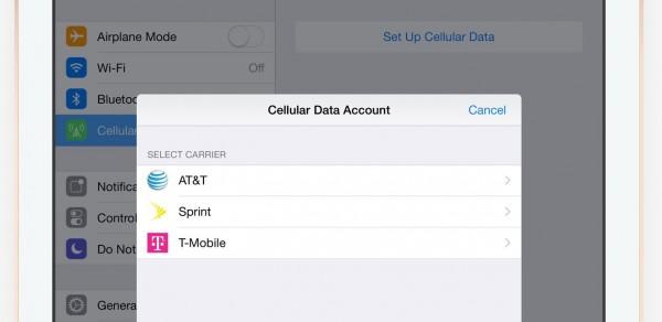Apple iPad Air 2 con SIM virtuale negli USA