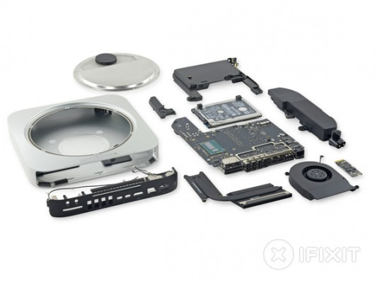 Mac Mini 2014 smontato da iFixit, la RAM è saldata