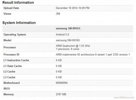 Samsung Galaxy Note 4: in uscita nuovo modello con Snapdragon 810