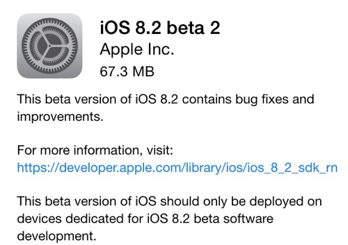 Apple iOS 8.2 Beta 2: download e novità