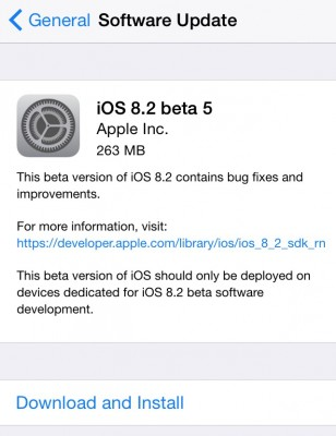 Apple iOS 8.2 Beta 5: download e novità