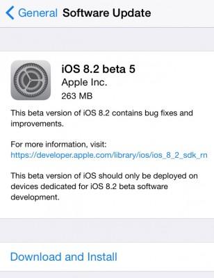 Apple iOS 8.2 Beta 5: download e novità