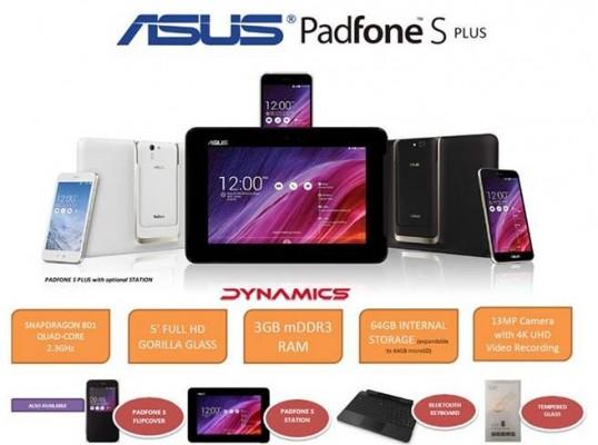 ASUS Padfone S Plus: ufficiale il nuovo ibrido smartphone - tablet