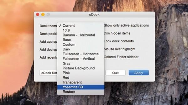 OS X Yosemite: come avere il Dock 3D delle applicazioni