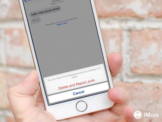 iOS 8.3: come segnalare messaggi spam in iMessage