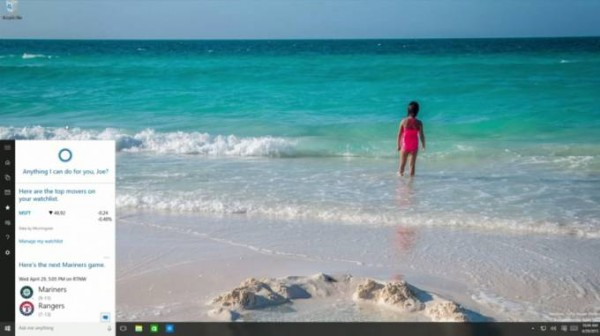 Microsoft Windows 10: le novità di Cortana e Start Menu