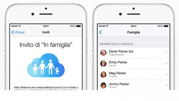 Apple iOS 8: come configurare la condivisione In Famiglia