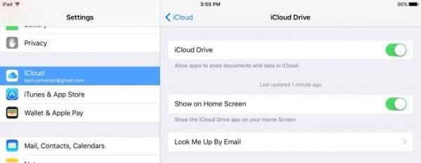 iOS 9: come si attiva l'app iCloud Drive
